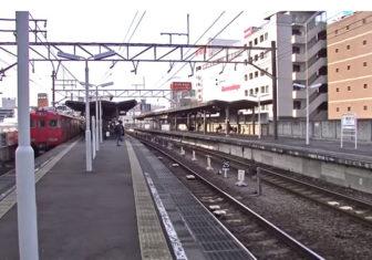 豊田市駅のホーム