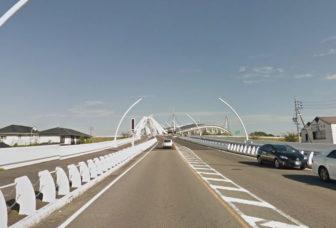 矢作川に架かる豊田大橋