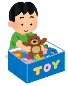 おもちゃを片付けるボックス