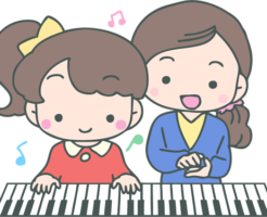 個人のピアノ教室の風景