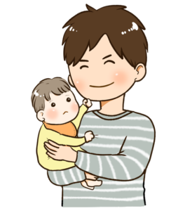 パパに赤ちゃんを預ける