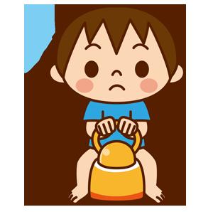 男の子のトイレトレーニング