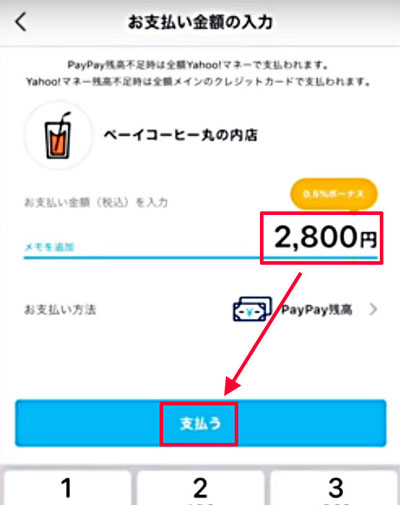 209-a04-PayPayアプリで金額を入力