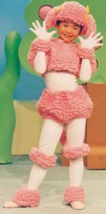 ピンクのプードルの衣装