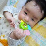 赤ちゃんの歯固めのおもちゃはいつからいつまで必要?バナナやビスケットが人気!